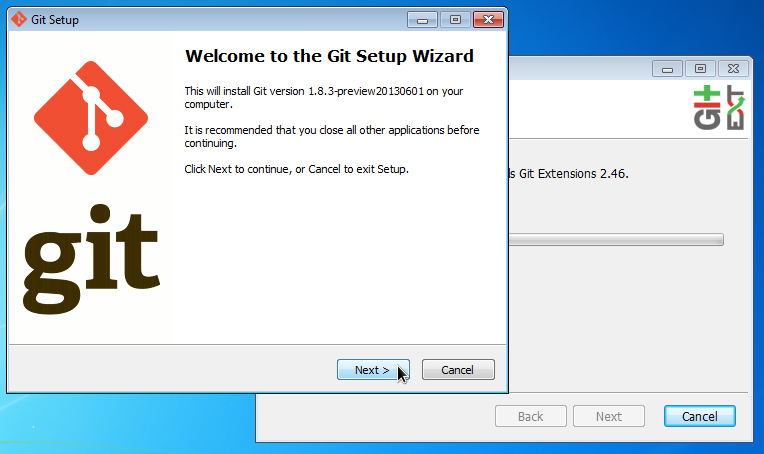 Git Extensions Download Repository Windows 7